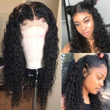 Curly 360 Lace Front Human Hair Wigs For Black Women Pre Plucked Brazilian Lace Wigs Remy