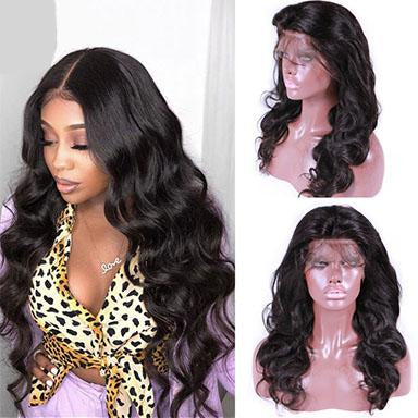 Queen Hair Products Body Wave Lace Front Human Hair Wigs Pre-plucked 100% Human Hair Frontal Wigs Natural Color For Black Women
