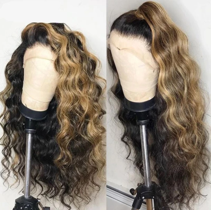 Brazilian lace frontal hair and baby hair no gel Remy wave hair