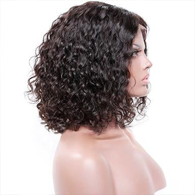 100% virgin human hair Curly Lace Front Brazilian Remy Hair Short Curly Bob Wigs For Women