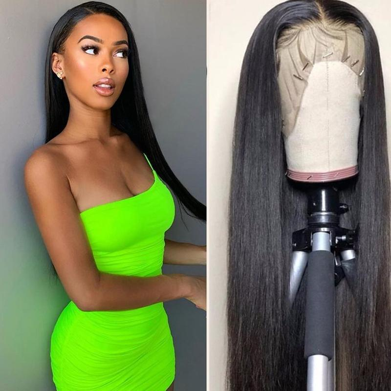 Straight Lace Front Human Hair Wigs Pre Plucked With Baby Hair Glueless Lace Front Wigs For Black Women Brazilian Remy Hair