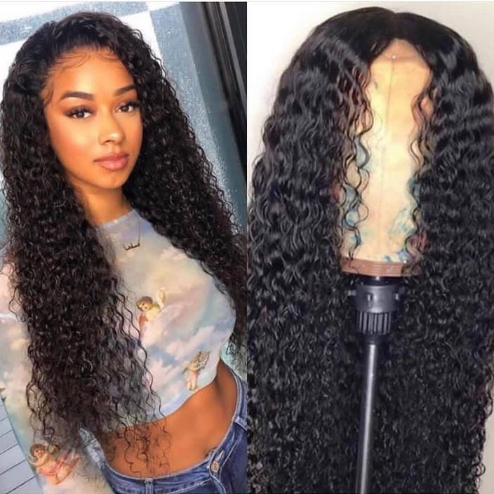 Elegants Water Wave Lace Front Human Hair Wigs Full Frontal Lace Wig Glueless Brazilian Remy Hair Wig Pre Plucked With Baby Hair