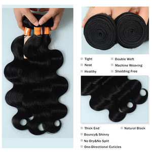 10A Lace Frontal Closure  Virgin Hair Body Wave Human Hair Bundles With Lace Frontal Closure