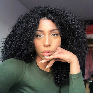 Brazilian affordable original black explosion head curly wig