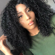 Load image into Gallery viewer, Brazilian affordable original black explosion head curly wig