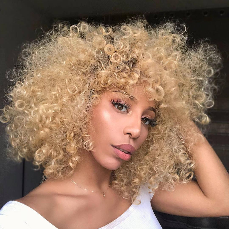 Blonde explosion head Brazilian Lace Front Human Hair Wigs Front Lace Wigs With Baby Hair
