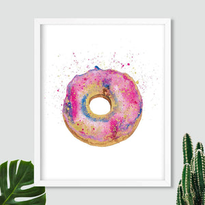 DONUT WORRY | Donut Poster| Food Art Prints - Feeb Studio