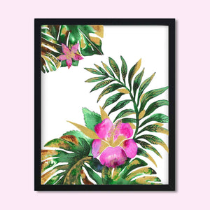TROPICAL DREAM | Tropical Leaf Poster | Wall Art - Feeb Studio