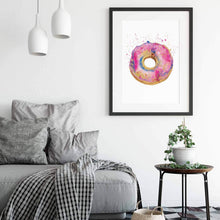 Load image into Gallery viewer, DONUT WORRY | Donut Poster| Food Art Prints - Feeb Studio