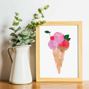 BE COOL | Ice Cream Poster | Wall art | Art Posters - Feeb Studio