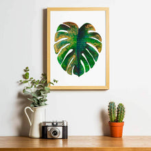 Load image into Gallery viewer, BOTANICAL BABE | Leaf Poster | Botanical Art Print - Feeb Studio
