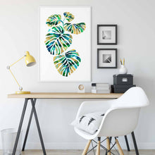 Load image into Gallery viewer, PLANT PAL | Leaf Poster | Art Print | Cheese plant Print - Feeb Studio
