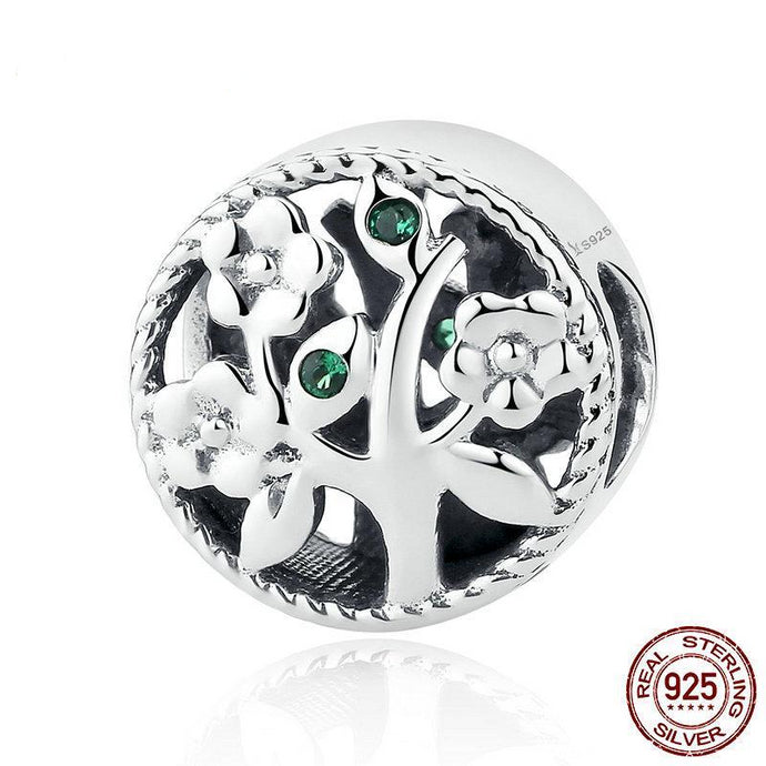 925 Sterling Silver Tree of Life Bead Charms for Bracelets