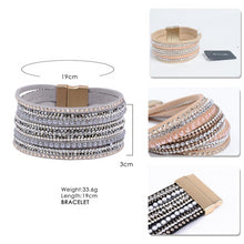 Load image into Gallery viewer, Natural Crystal & Leather Bracelet