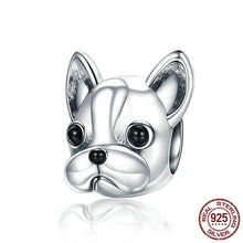 Load image into Gallery viewer, 925 Sterling Silver BULLDOG Doggy Animal Beads