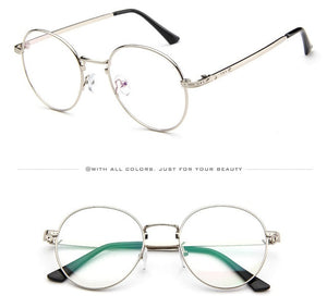 Round Metal Anti Blue Light - Radiation - Fatigue - Reading Glasses