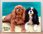 Load image into Gallery viewer, Custom Pet Portrait on Canvas - Watecolor