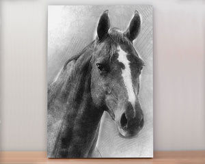 Custom Pet Portrait on Canvas - Sketch