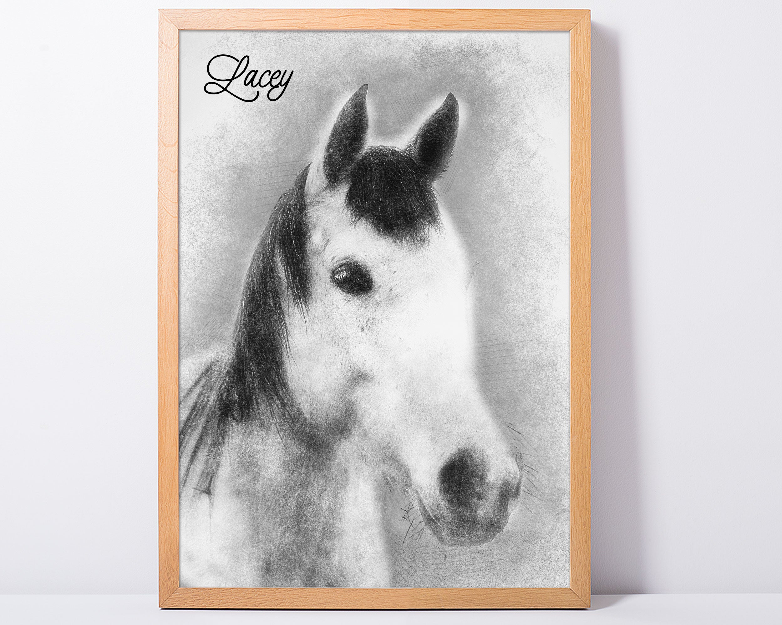 Custom Pet Portrait Art Print - Sketch