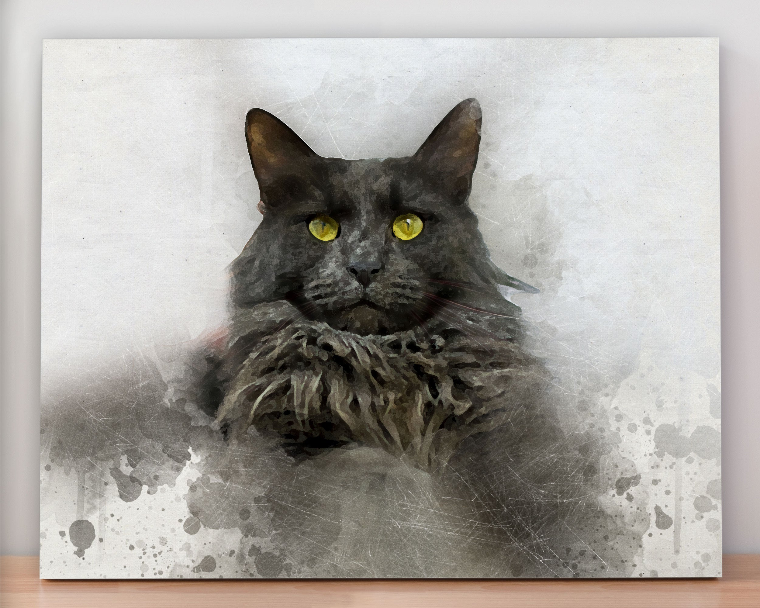 Custom Pet Portrait on Canvas - Watecolor