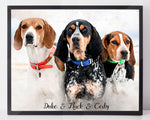 Load image into Gallery viewer, Custom Pet Portrait Watercolor - Download Only