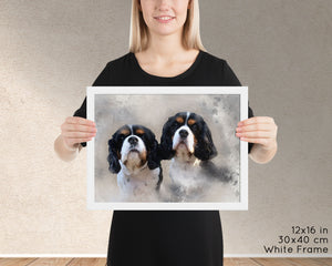Custom Pet Portrait Watercolor - Download Only