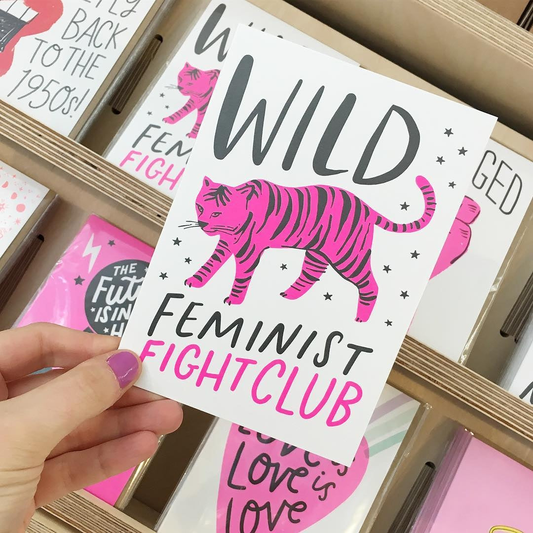 Wild Feminist Fight Club Greeting Card