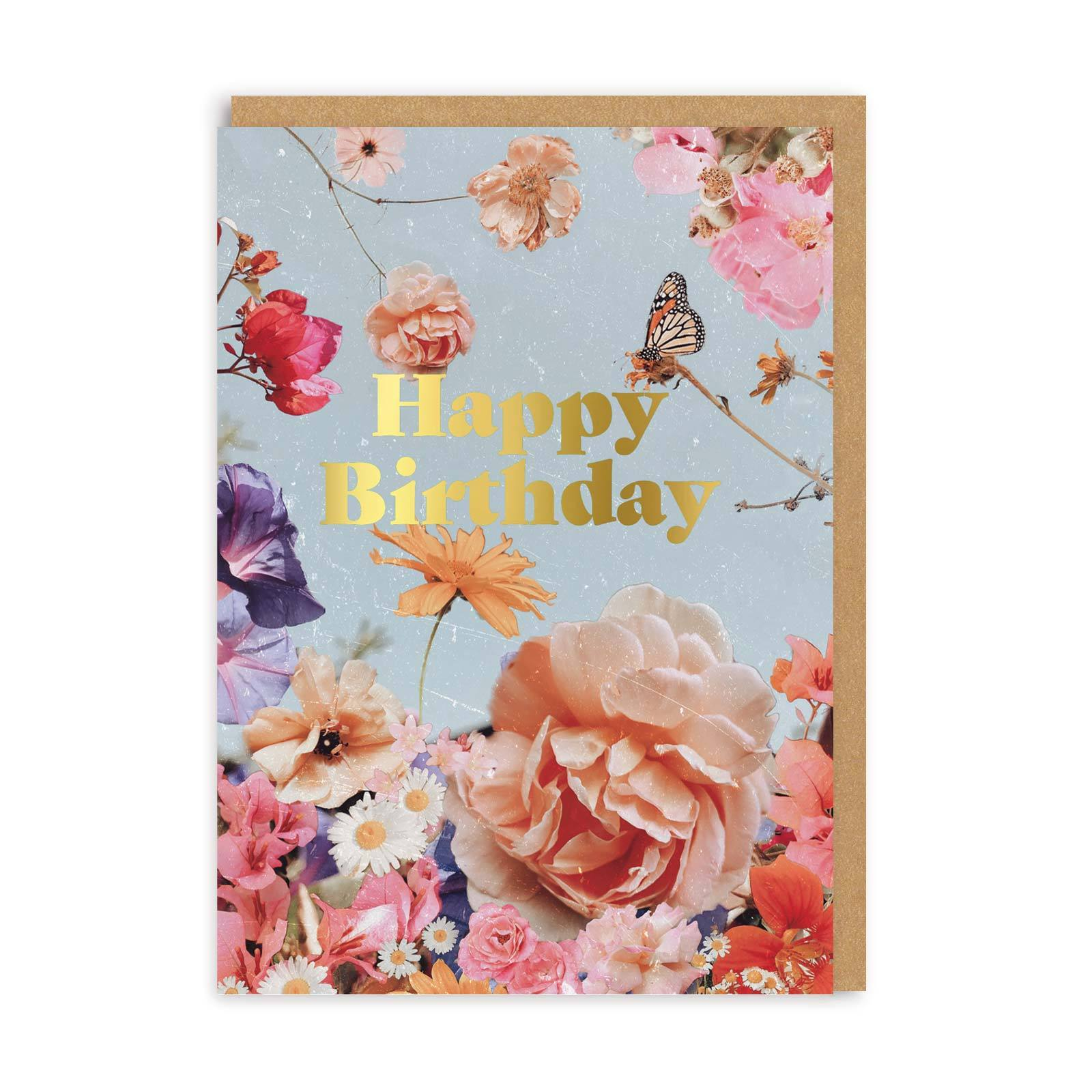English Garden Birthday Greeting Card