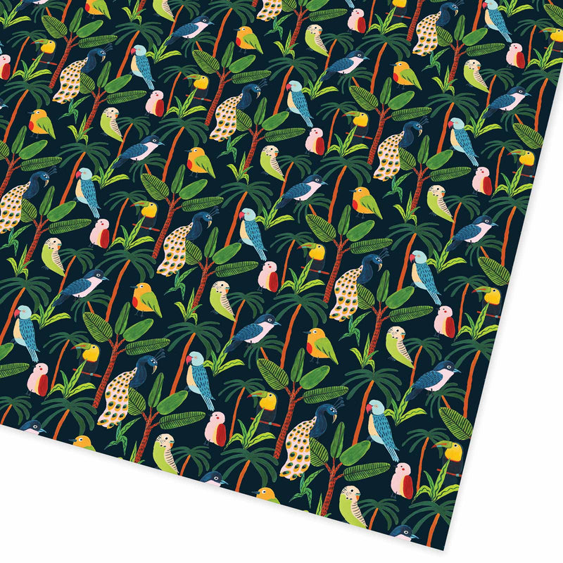 Jungle Birds Flat Giftwrap