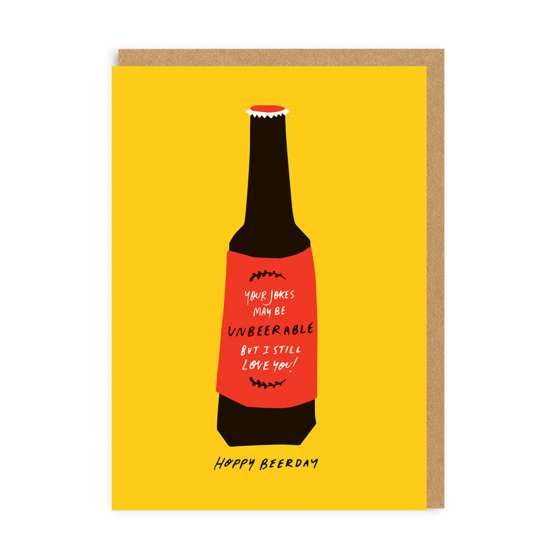 Hoppy Beerday Greeting Card