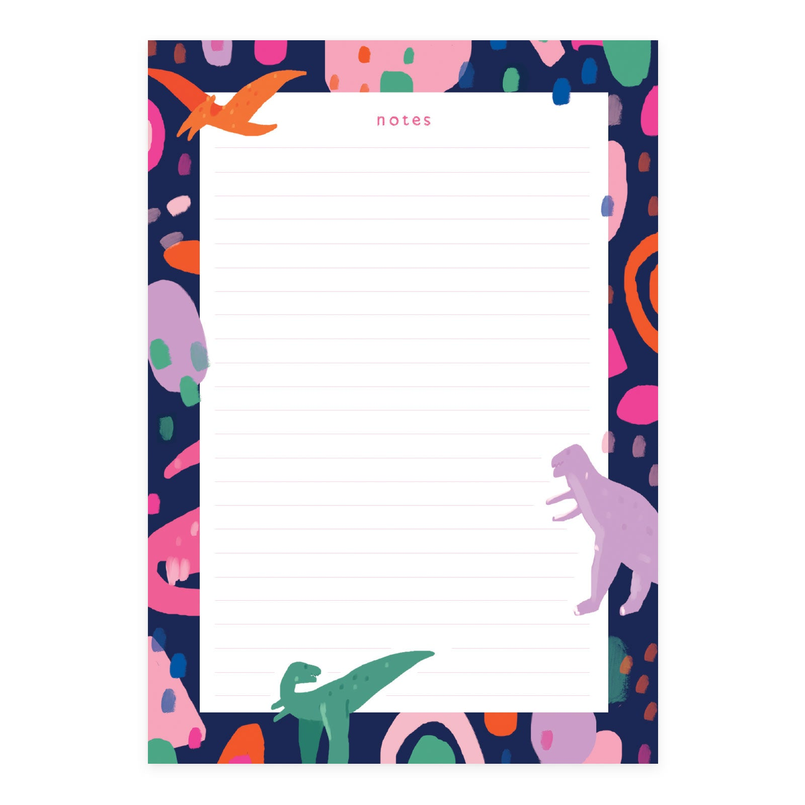 Abstract Dinosaurs A5 Notepad