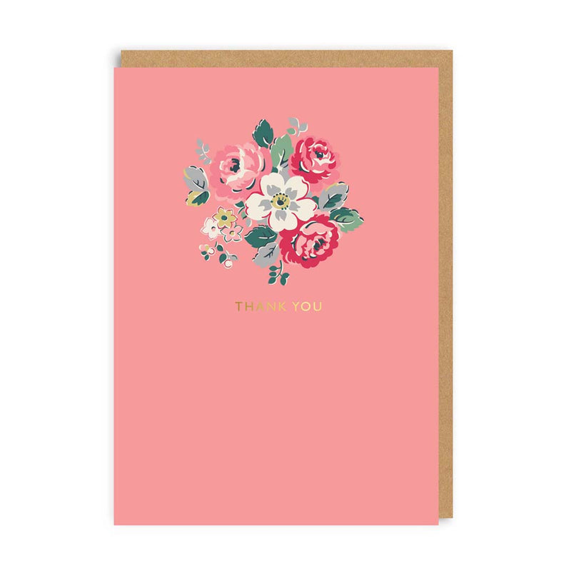 Thank You Floral Greeting Card