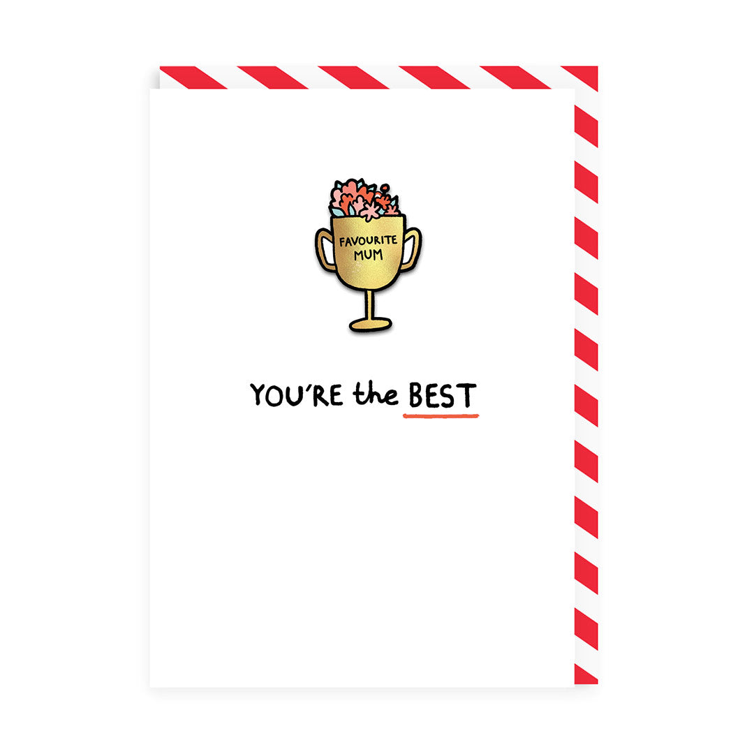 You're The Best Enamel Pin Greeting Card