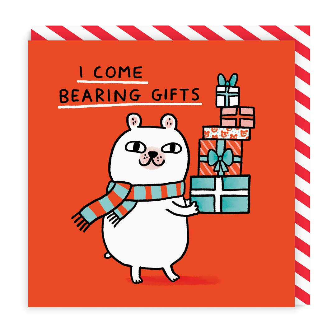 I Come Bearing Gifts Greeting Card