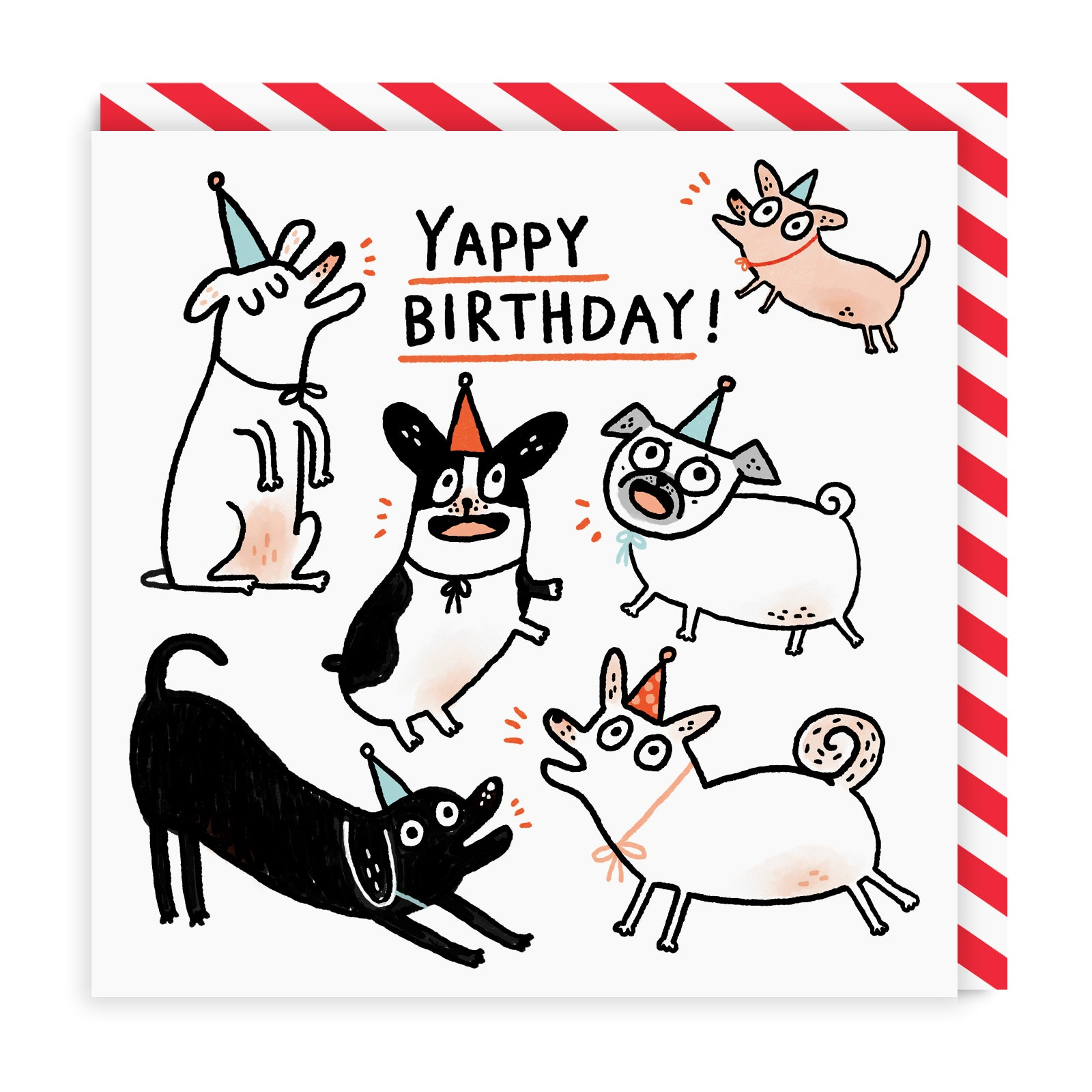 Yappy Birthday Greeting Card