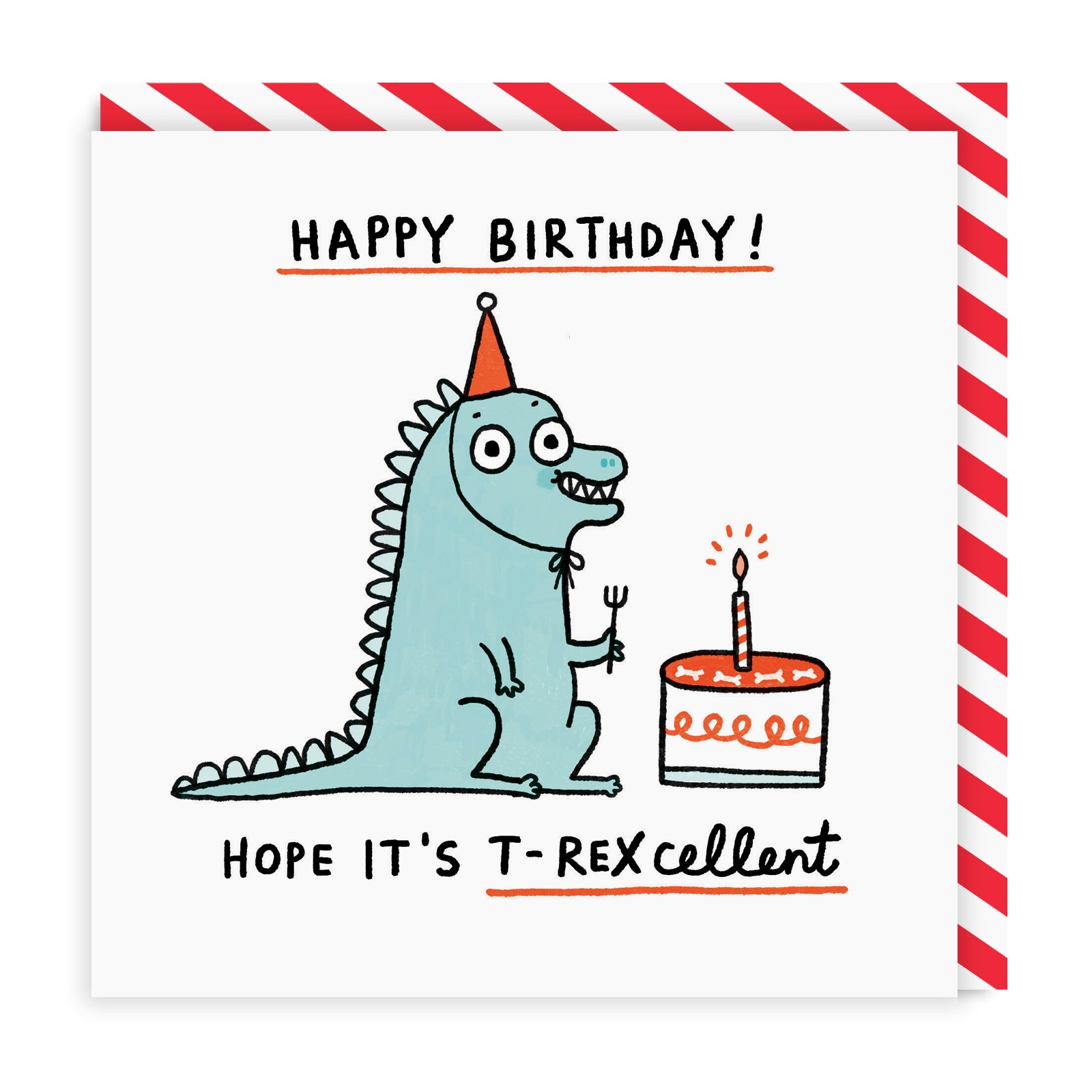 T-Rexcellent Birthday Greeting Card