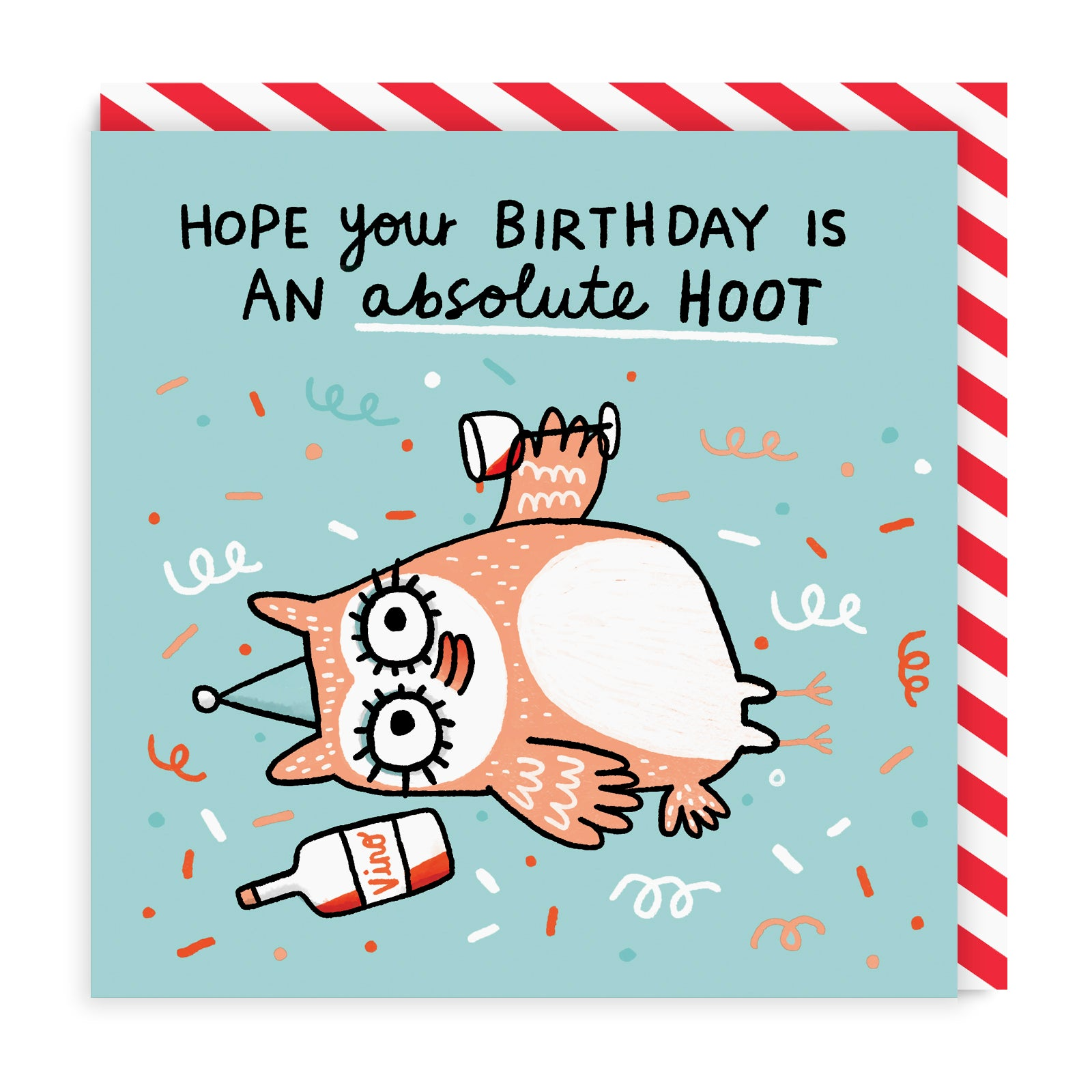 Hope Your Birthday Is a Hoot Square Greeting Card
