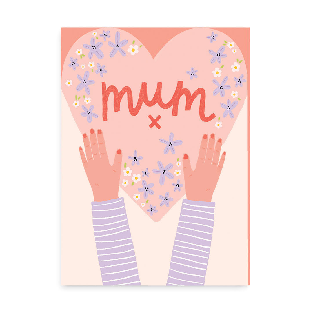 Mum Heart Greeting Card
