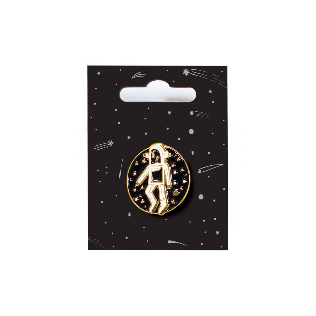 Cosmic Explorer Spaceman Enamel Pin
