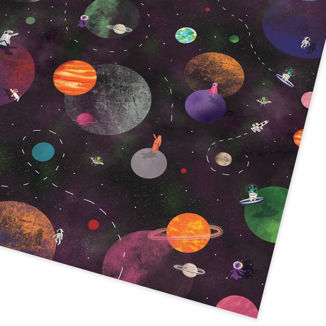 Cosmic Explorer Folded Giftwrap