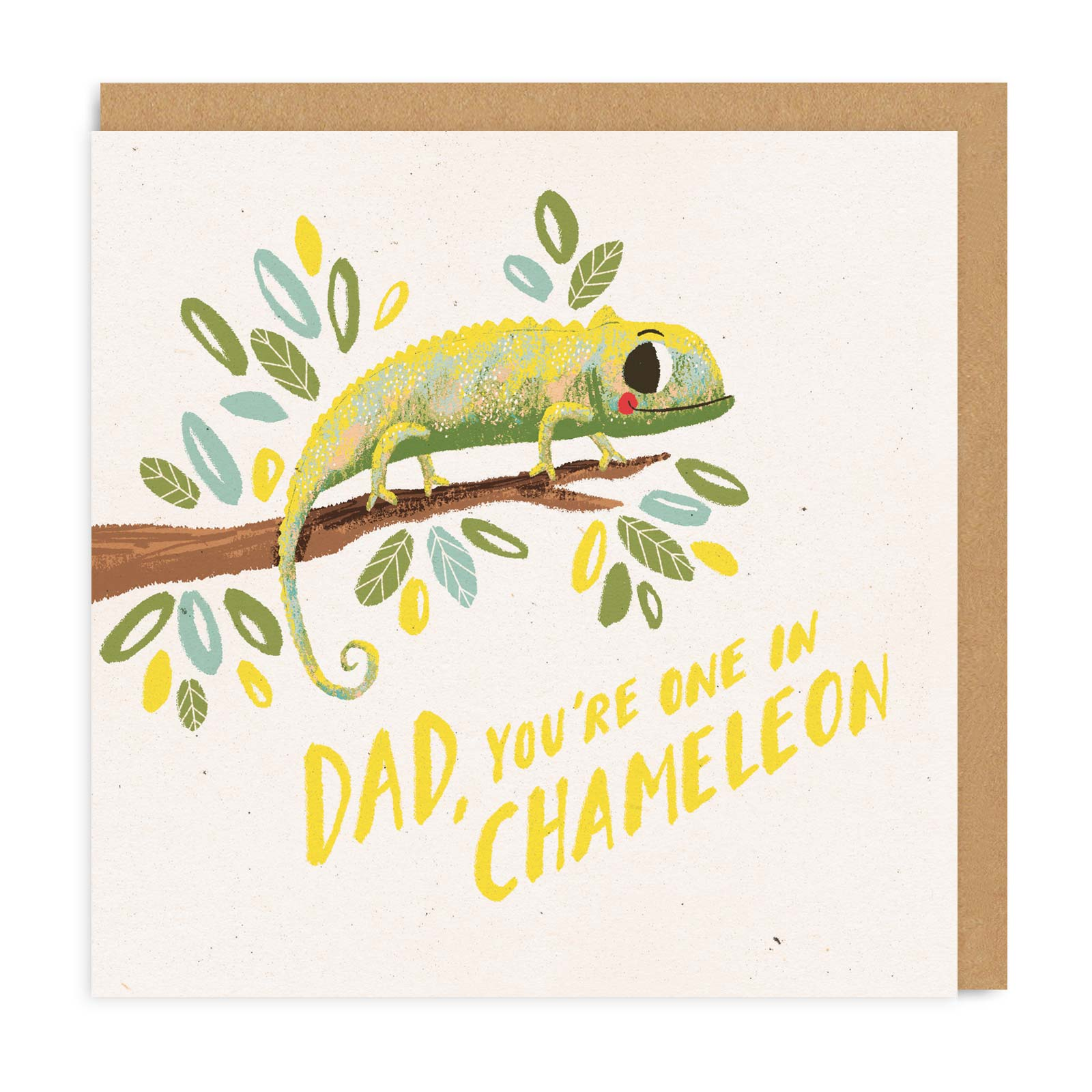 Dad, Chameleon Square Greeting Card