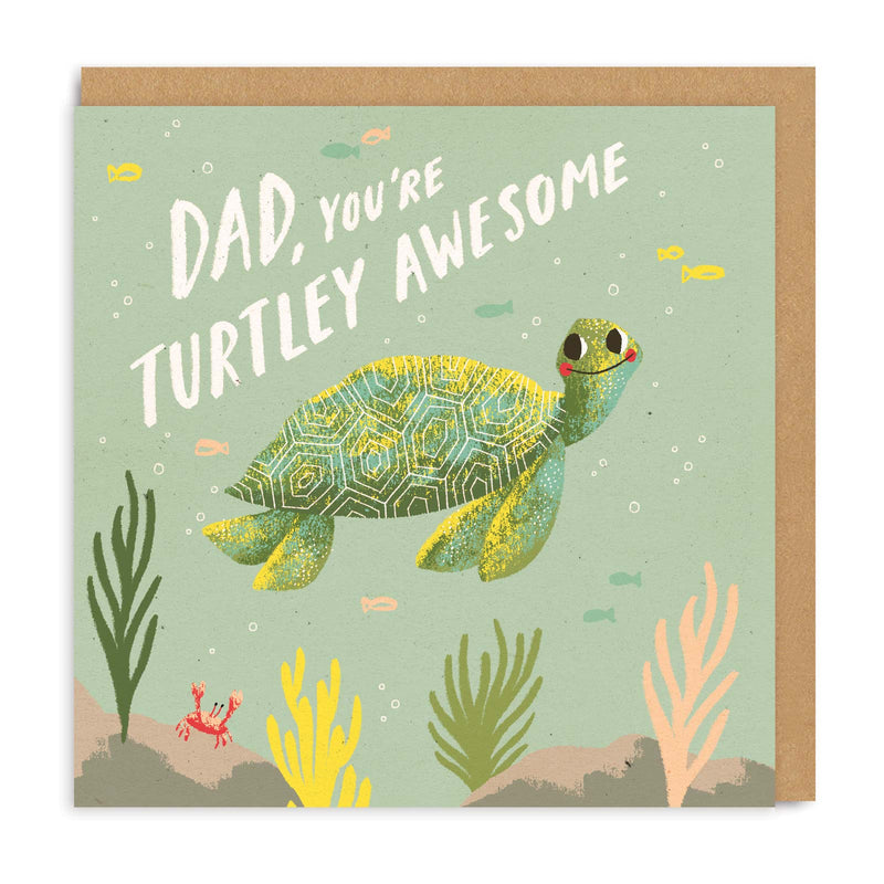 Dad, Turtley Square Greeting Card