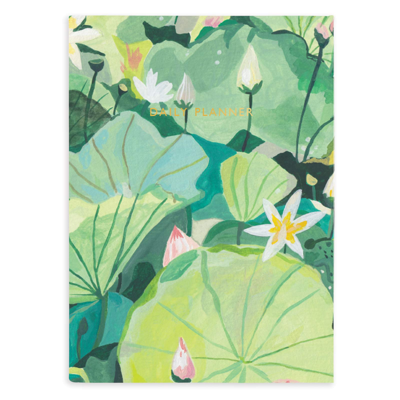 Water Lilies Linen Daily Planner