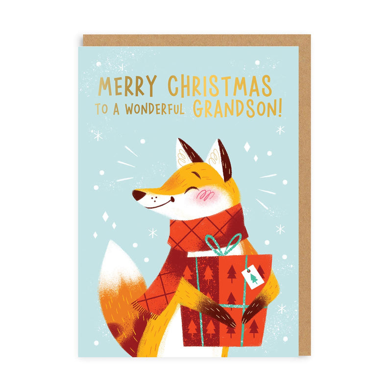 Merry Christmas Grandson Greeting Card