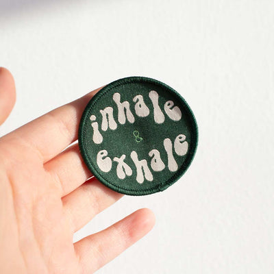 Inhale & Exhale Woven Patch