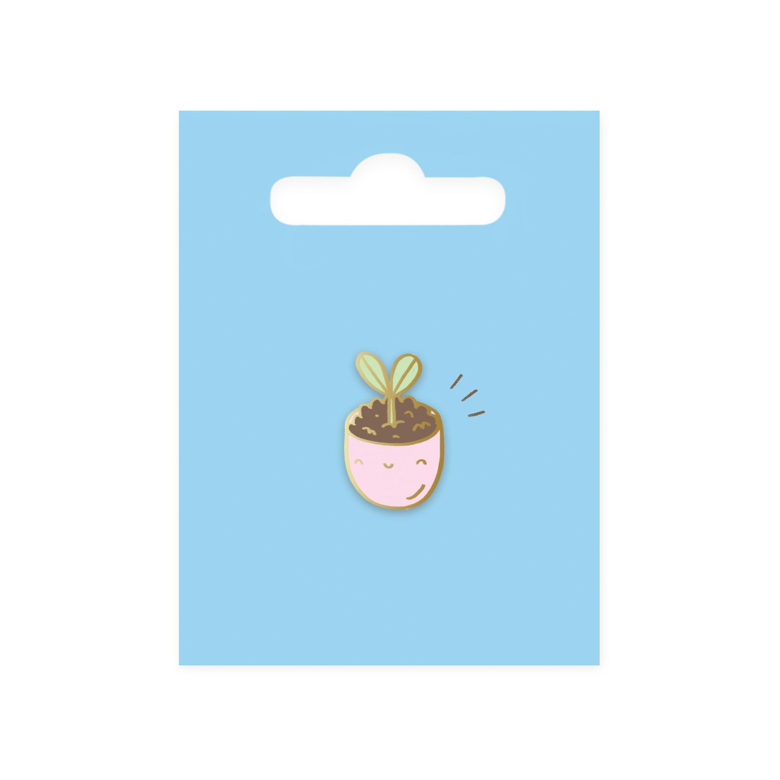 Plant Pot Enamel Pin