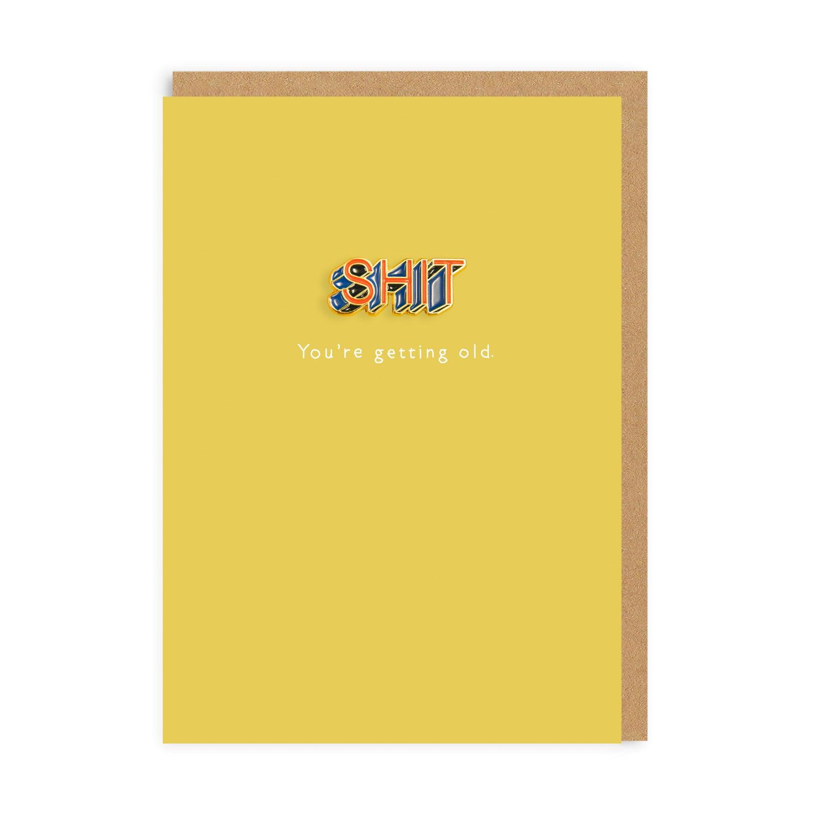 Shit Enamel Pin Greeting Card