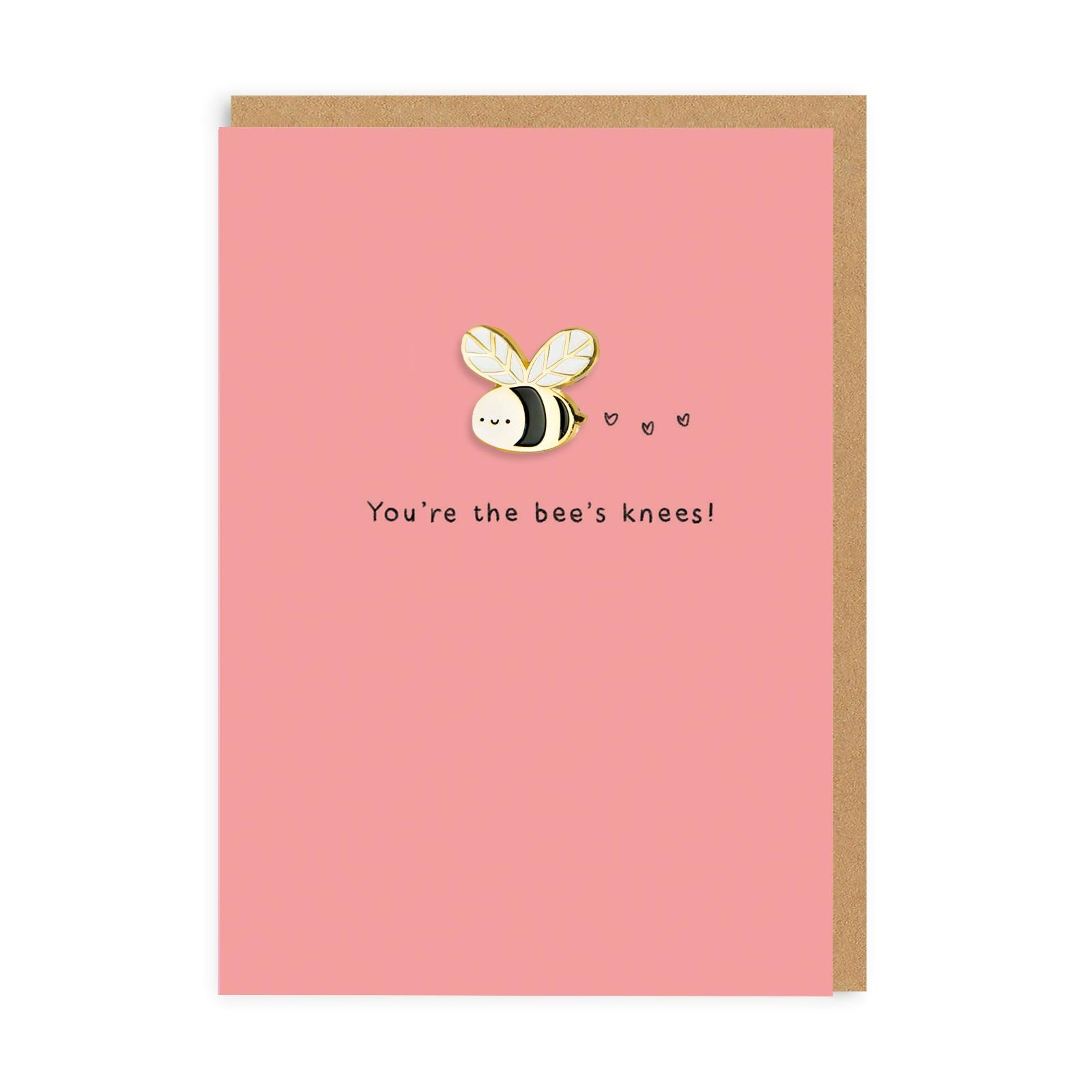 Bees Knees Enamel Pin Greeting Card