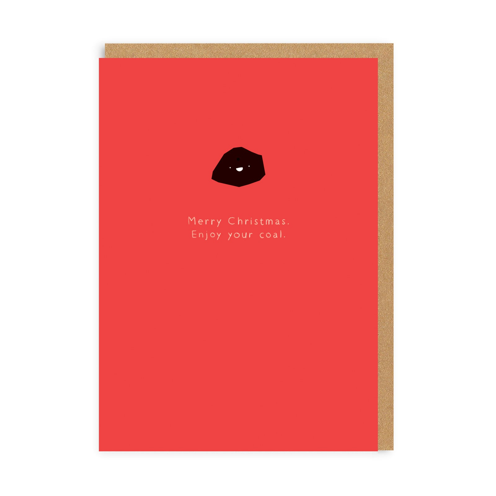 Enjoy Your Coal Enamel Pin Greeting Card