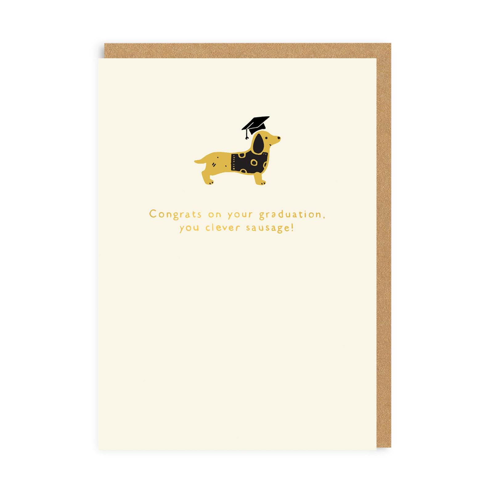 Graduation Clever Sausage Enamel Pin Greeting Card